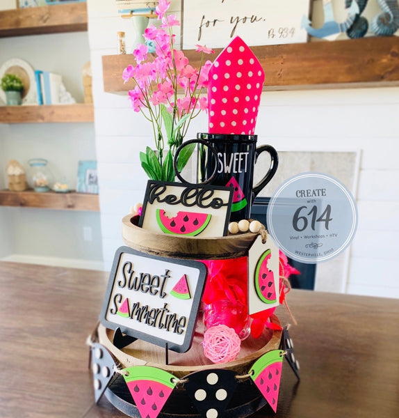 Watermelon Tier Tray Decoration