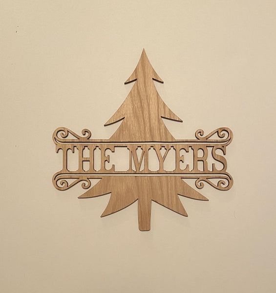Christmas Tree Door Hanger