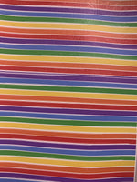 Premium Faux Leather - Rainbow Stripes - Create With 614
