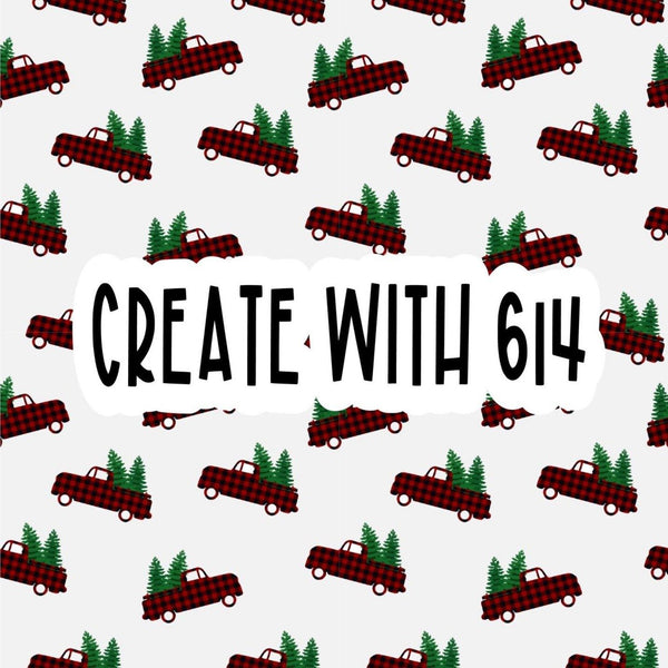Create With 614 Pattern - Buffalo Plaid Truck - Create With 614