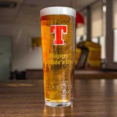 Personalised Tennent's Pint Glass