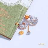 Diamond Flower Shaped 3-ways Earrings