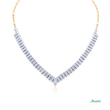 Diamond V Shape Double -Row Necklace