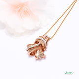 Diamond and Rose Gold Turban Pendant