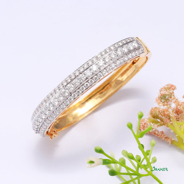 Diamond 3 Rows Bracelet