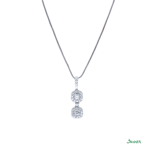 Diamond Hna-Sint Halo Pendant