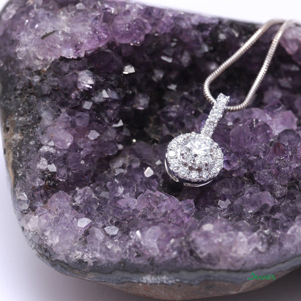 Diamond Halo Bling Bling Pendant