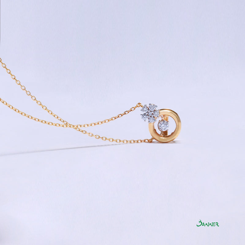 Diamond Dancing Necklace