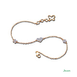 Diamond Heart Minimal Bracelet