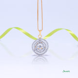 Dancing Diamond Halo Pendant