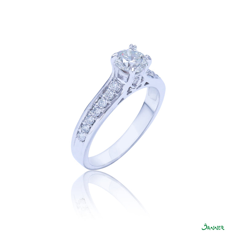 Starlight Diamond Ring ( Diamond Ring (0.7 ct ,I Color, IF)