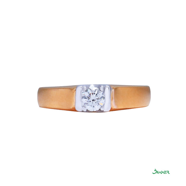 Diamond Solitaire Engagement Ring (Male)