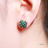 Emerald and Diamond Kyar-Kwat Earrings