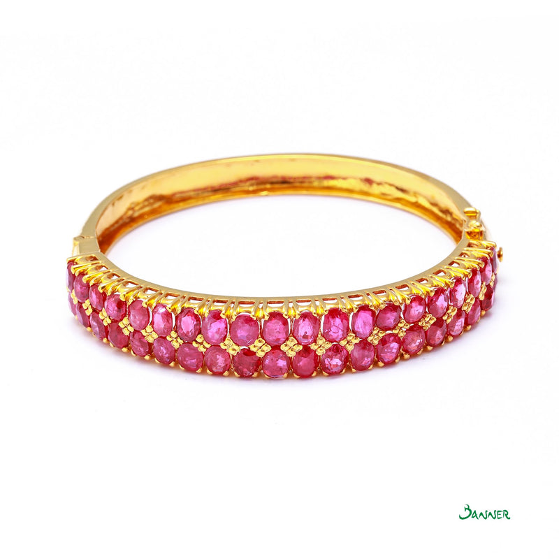 Ruby Two-Rows Bracelet