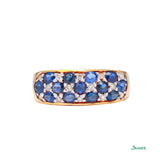 Sapphire and Diamond Kyar-Kwat Ring
