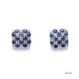 Sapphire and Diamond Kyar- Kwat Earrings