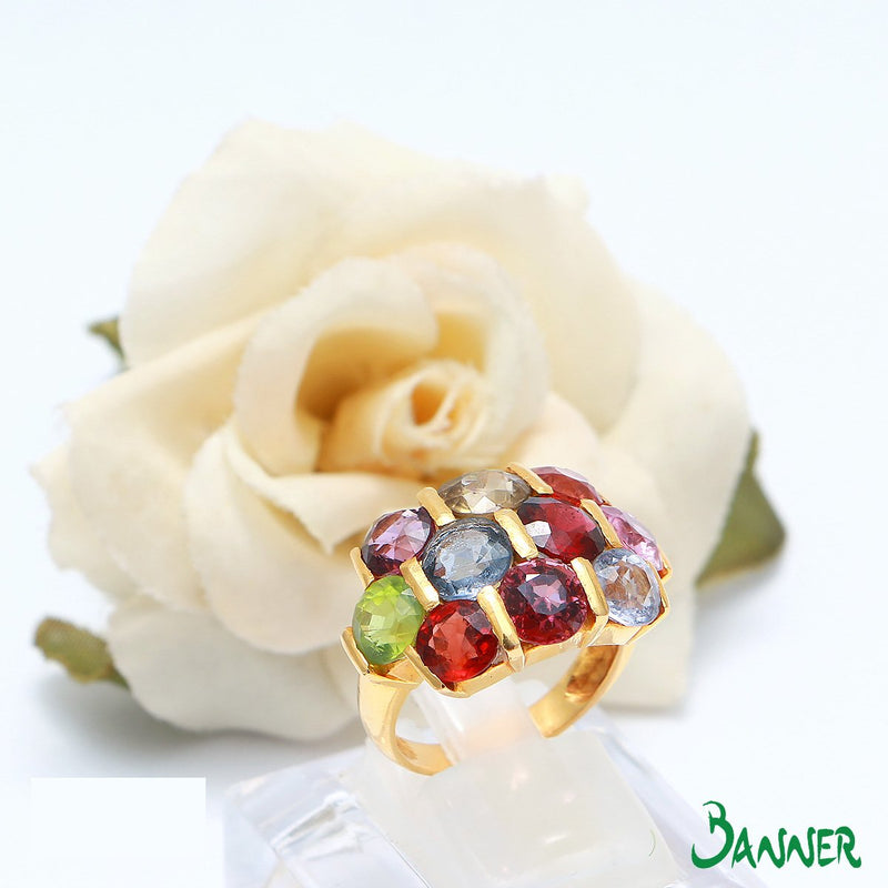 Assorted Gems Bee Hive- Ring