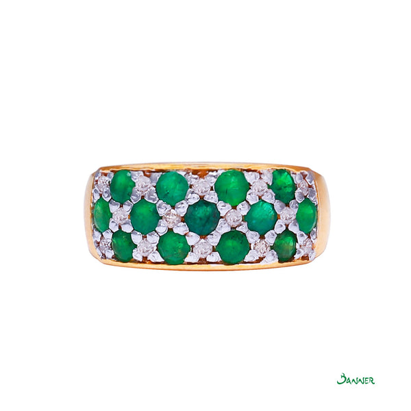 Emerald and Diamond Kyar-Kwat Rings