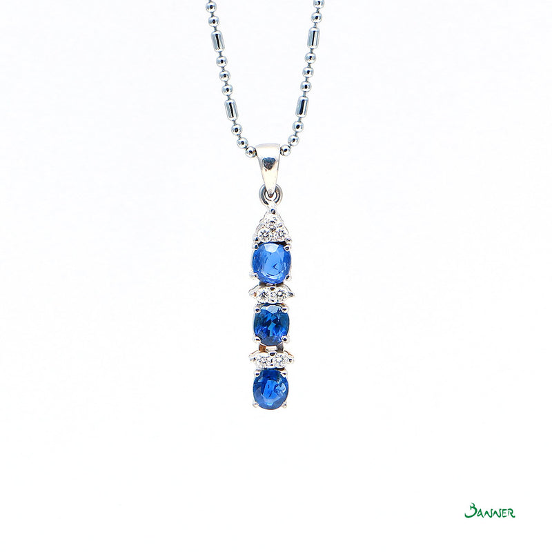 Sapphire and Diamond Temple Pendant