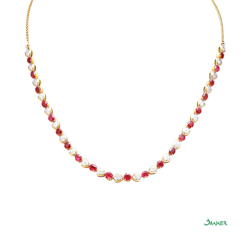 Ruby and Diamond Chin Paung Necklace