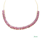 Ruby and Diamond Kyar-Kwat Neckalce
