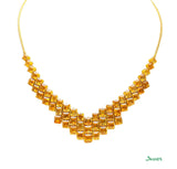 Citrine Emerald-cut Necklace