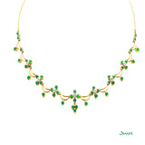 Apple Green Jade and Diamond Pan-Khat Necklace