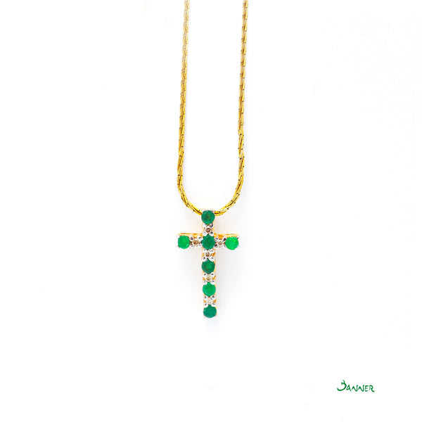 Emerald and Diamond Alternate Pendant
