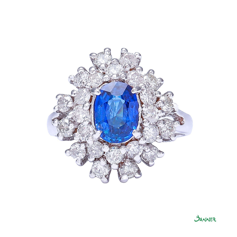 Sapphire and Diamond Classic Ring