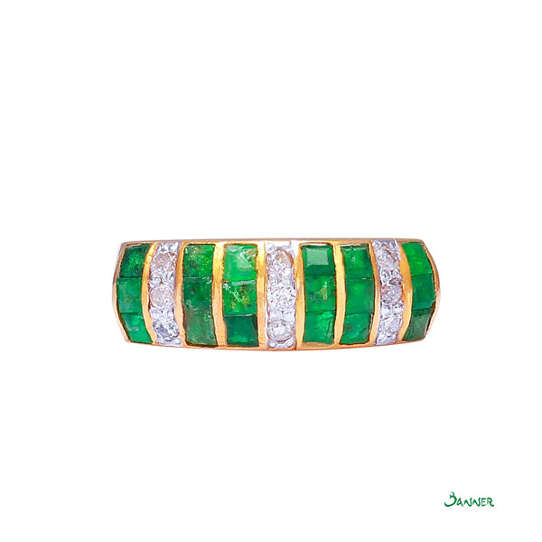 Emerald and Diamond Wasit Ring