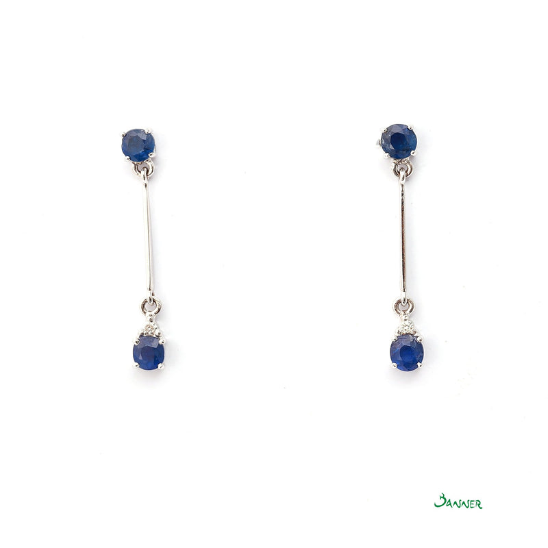 Sapphire and Diamond Hna-Sint Earrings