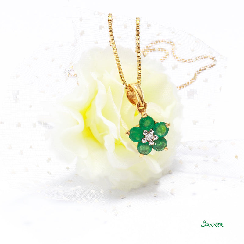 Emerald and Diamond Chel Pendant