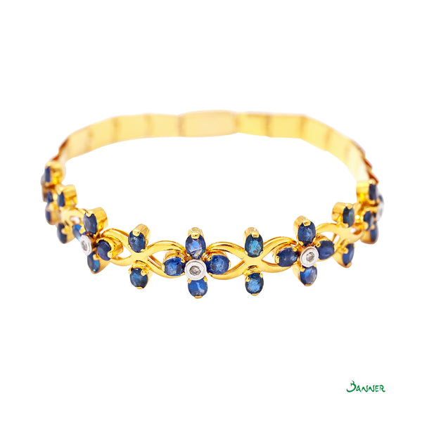 Sapphire and Diamond Ka-Note Bracelet