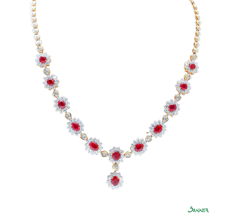 Ruby and Diamond Diana Necklace