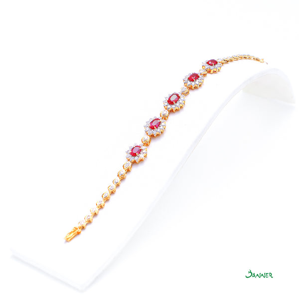 Ruby and Diamond Diana Bracelet