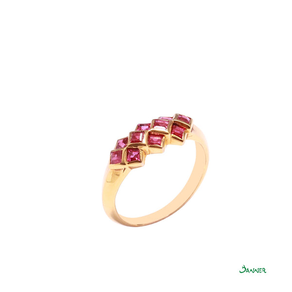 Ruby Emerald-cut Vintage Ring