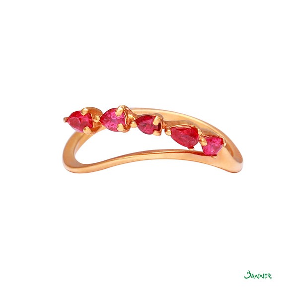 Ruby Olive Ring