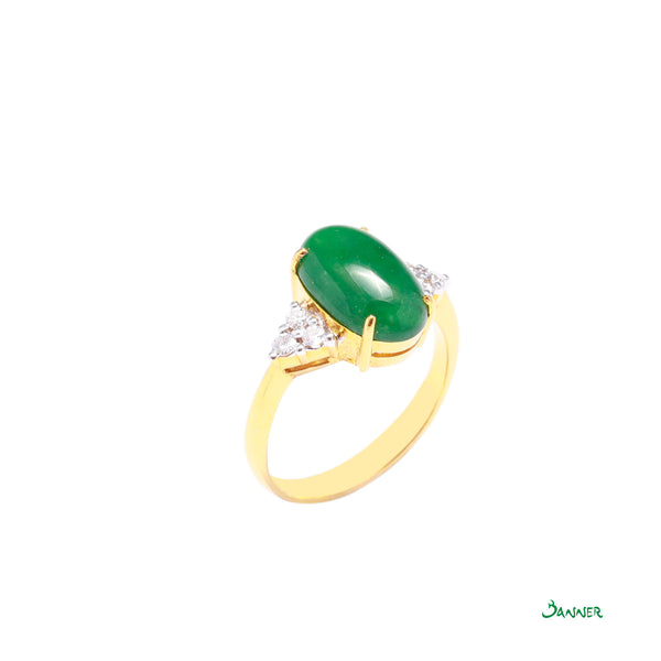 Jade and Diamond Ring