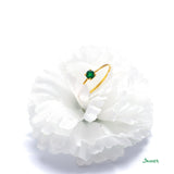 Emerald Solitare Ring