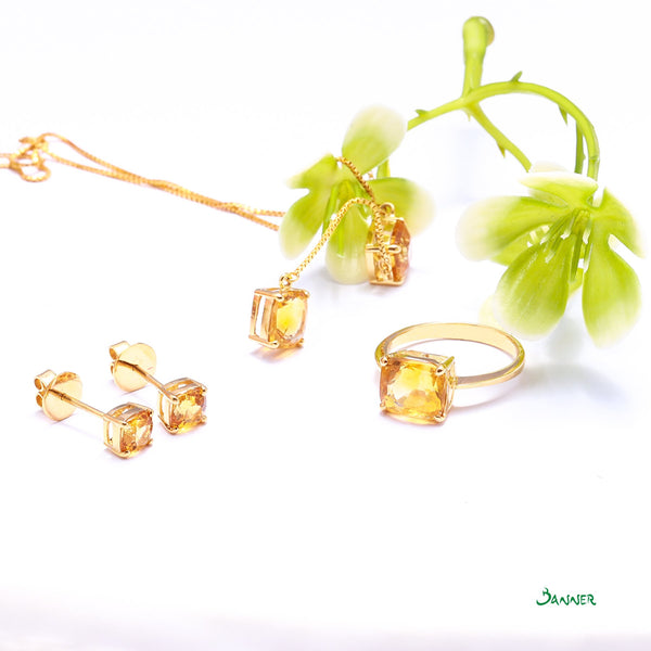 Citrine Hna-Sint Necklace