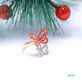 Ruby and Diamond Butterfly Ring