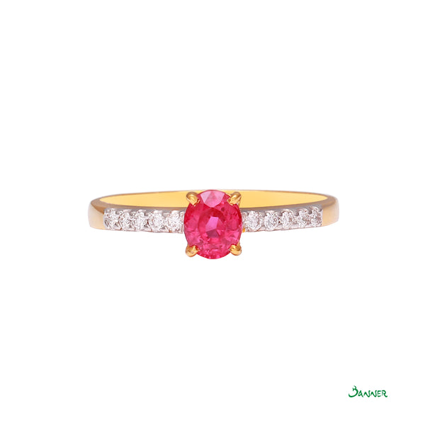 Ruby and Diamond Channel Ring