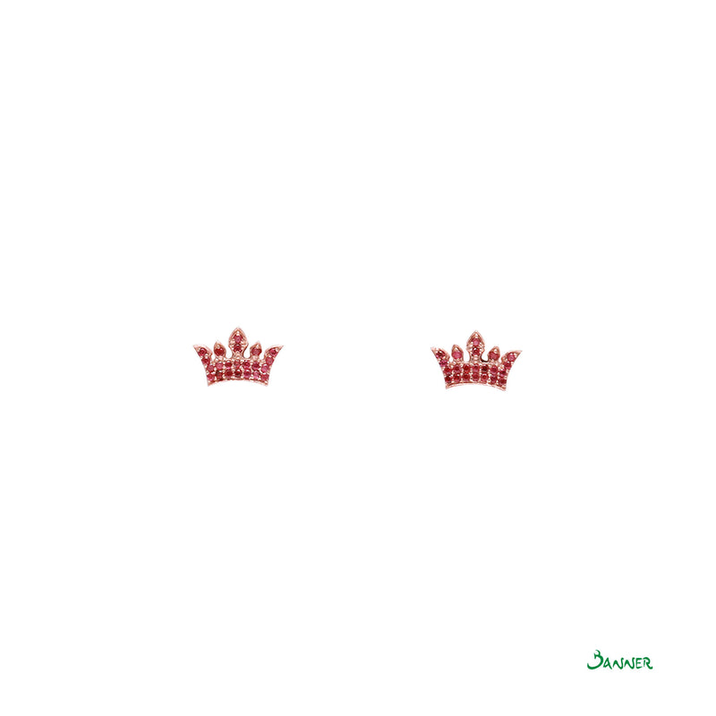 Ruby Crown Earrings