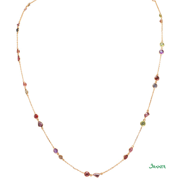Assorted Gems Necklace