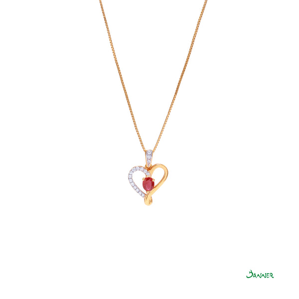 Ruby True Love Pendant