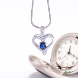 Sapphire and Diamond True Love Pendant