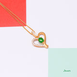 Jade and Diamond True Love Pendant