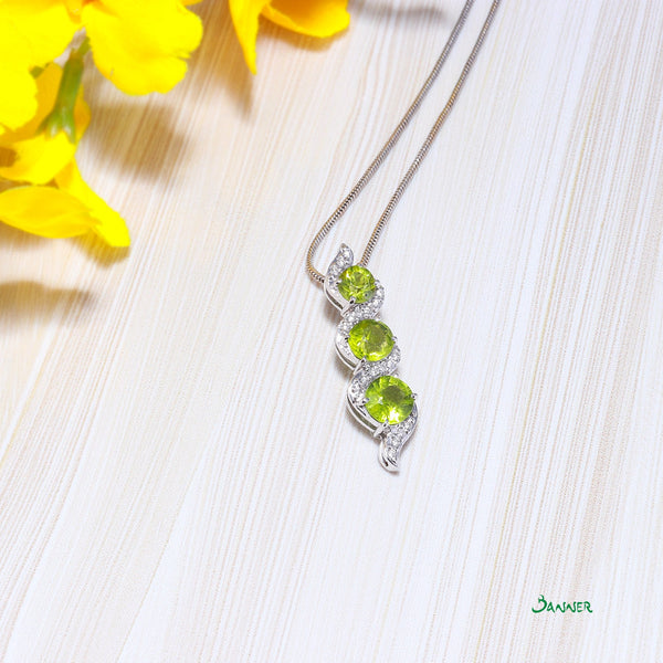 Peridot and Diamond Yae-Hlaing Pendant