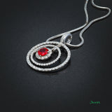 Ruby and Diamond Bull's Eye Pendant