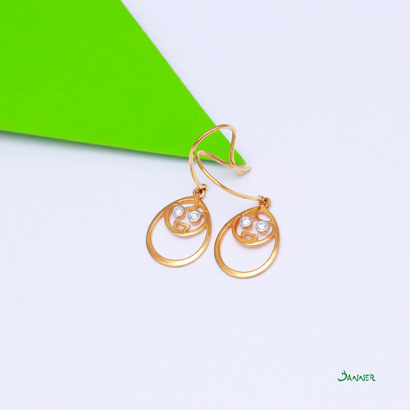 Diamond Pyit-Taing-Daung Earrings